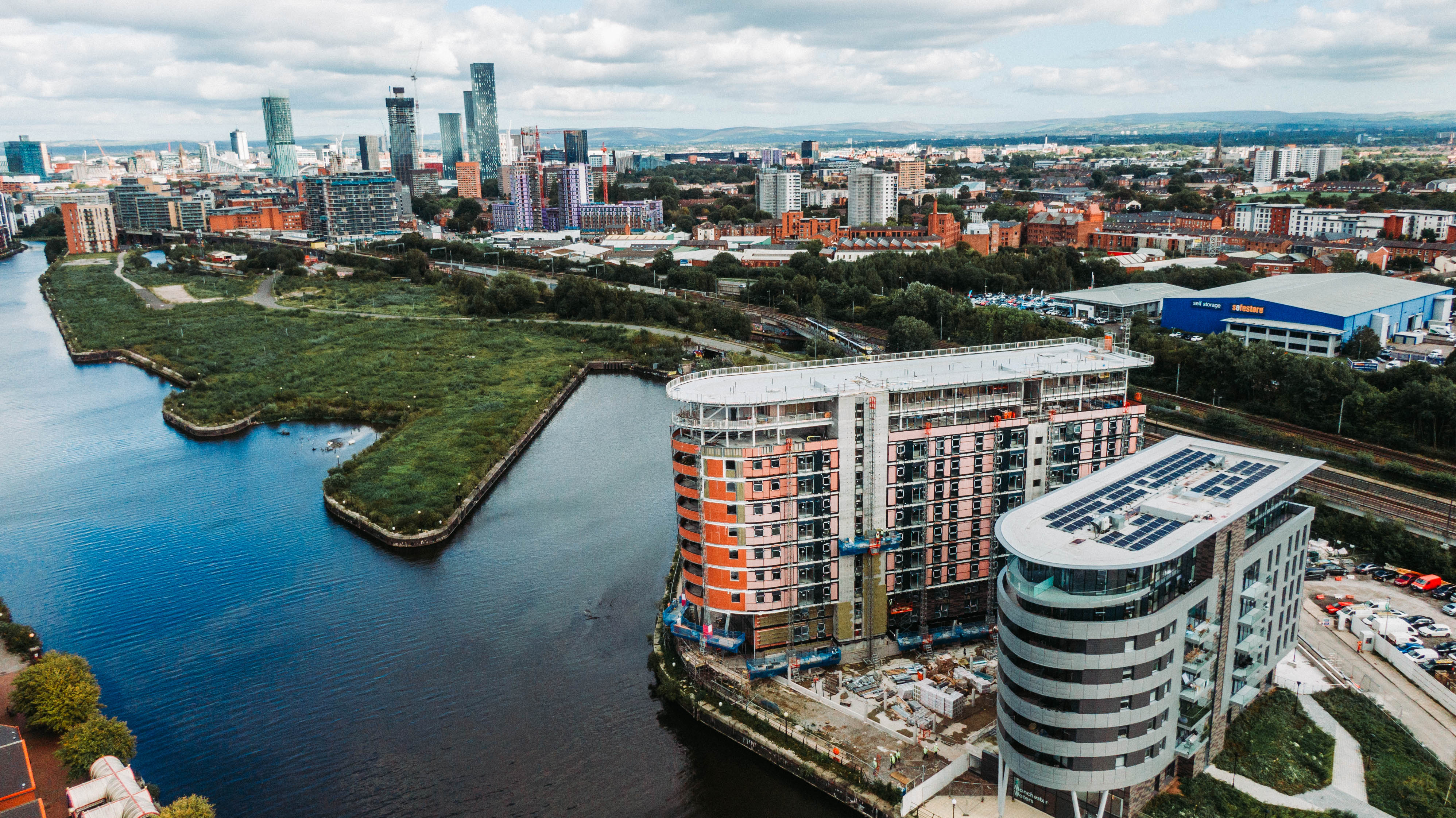 X1 Manchester Waters Salford Quays development